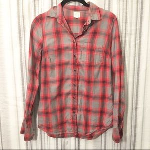J. Crew The Perfect Shirt Plaid Button Up Top XXS